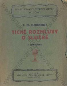 Tiché rozmluvy o službě S. D. Gordon 1923