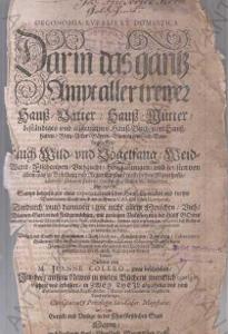 Oeconomia Ruralis et Domestica EKONOMIE 1645