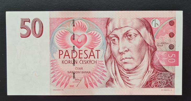 50 Kč 1997, série E 44, stav aUNC.  - Bankovky