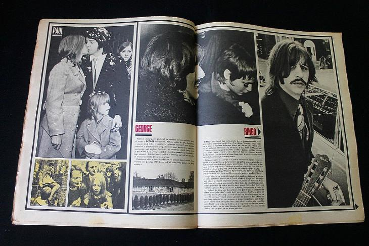 Mladý Svět 14/1969 , Ročník XI. (Perný den Beatles , Karel Kryl) (s14) - Antikvariát