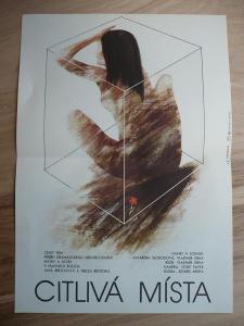 Citlivá místa (filmový plakát, film ČSSR 1987, režie