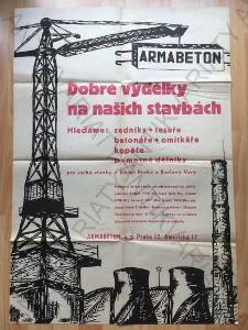 Armabeton Dobré výdělky na našich stavbách plakát