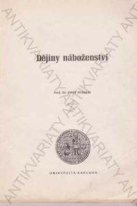 Dějiny náboženství Josef Kubalík 1991