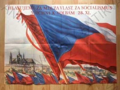 Hlasujeme za mír, za vlast, za socialismus plakát