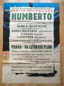 Cirkus Humberto reklamní plakát 50. - 60. léta