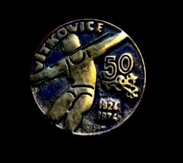 TJ Vítkovice 50 Let 1924-1974 těžká kovová medaile ČSR ,Socialismus