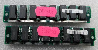 Staré RAM IBM 72 pin funkční 2x8MB