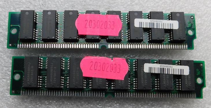 Staré RAM IBM 72 pin funkční 2x8MB - Historické počítače