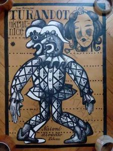 Turandot ukrutnice představení plakát A1