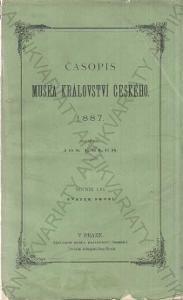 Časopis musea království českého Josef Emler 1887