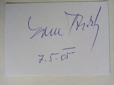 Autogram ... Karel ŠŤĚDRÝ ...