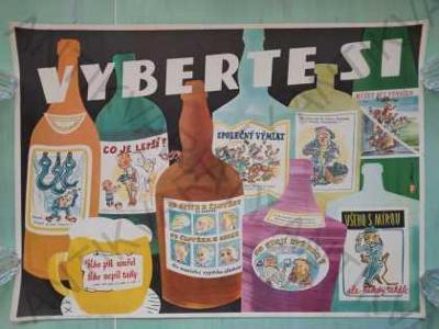 Vyberte si Plakát proti konzumaci alkoholu Pekárek
