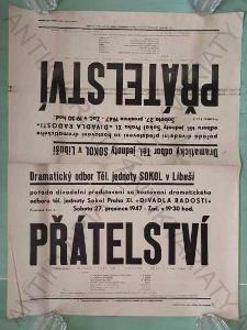 Přátelství Divadelní představení plakát A2