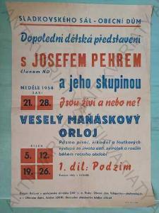 Dopolední dětská představení s Josefem Pehrem 1958