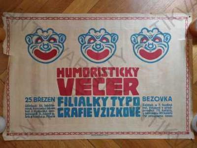 Humoristický večer Filiálky Typografie v Žižkově