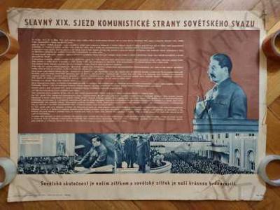 Slavný XIX. sjezd Komunistické strany SSSR plakát
