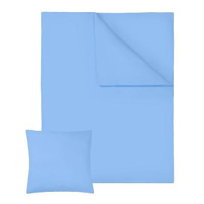 tectake 401311 ložní povlečení bavlna 200x135cm 2-dílné - modrá