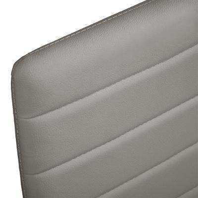 tectake 401846 4 jídelní židle, syntetická kůže - šedá