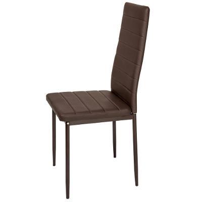 tectake 401849 6 jídelních židlí, syntetická kůže - hnědá