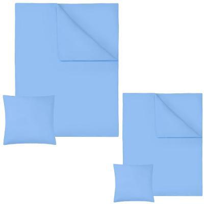 tectake 401930 2 ložní povlečení bavlna 200x135cm - modrá