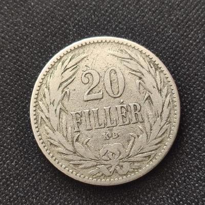 20 Fillér 1894 KB. Rakousko-Uhersko