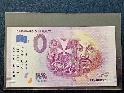 0 EURO Caravaggio in Malta (2019) , limitovaný náklad UNC