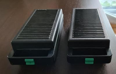 Audiokazety a 2 boxy na kazety