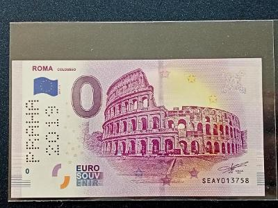 0 Euro Řím - Coloseum - Praha 2019, UNC