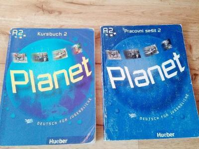 Učebnice němčiny a pracovní sešit Kursbuch 2 Planet