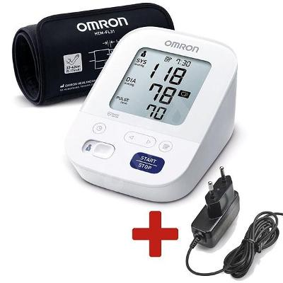 Tlakoměr OMRON M3 Comfort intelli +ZDROJ (SET), 4roky záruka