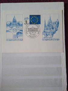 Pamětní list ČSFR 1990 Návštěva prezidenta USA v Praze