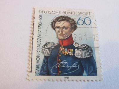Prodávám známky Německo 1981, Generál Carl von Clausewitz