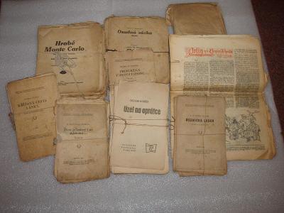 8 prastarých novinových románů, více popis