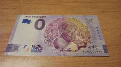 +++bankovka 0 Euro Jiřina Bohdalová VYPRODÁNO+++