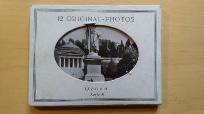 ORIGILAL PHOTOS GENUA -JANOV V ČB FOTOGRAFII - 12 KS Z 60.let 20.stol.