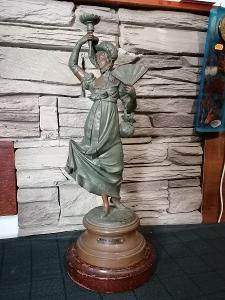 St. figurální svícen - lampa  47 cm