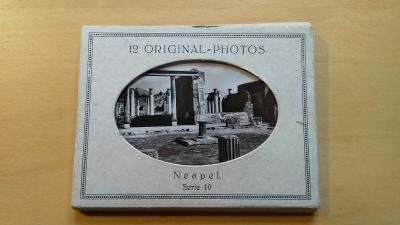 ORIGINAL PHOTOS NEAPEL- NEAPOL V ČB FOT. - 12 KS Z 60.let 20.stol.
