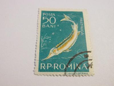 Známky Rumunsko 1957, Fauna Dunajské Delty , Ryby
