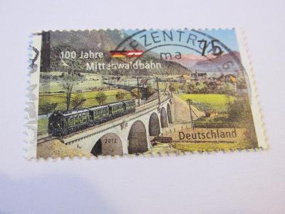 Známky Německo 2012, 100.výročí železnice