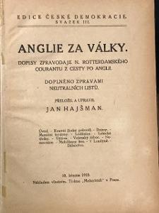 Legie legionář 2x kniha Anglie 1918 za války, Rusko I, 1917