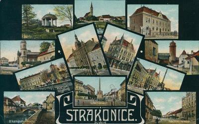10D3580 Strakonice - náměstí, radnice, Dubovec, chorobinec