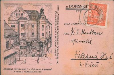 10D3578 Soukromé vydání lístku - Svátek knihkupectví, Č. Budějovice RR
