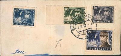 10B1967 Torzo slovenského dopisu, zn. Štefánik