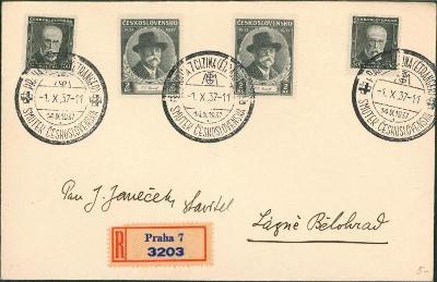 10B2099 R dopis Praha - Lázně Bělohrad, příležitostné razítko