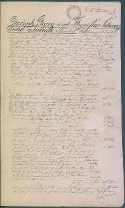 13D127  Bečov nad Teplou - pečeť , 1834 - dědické řízení ..?
