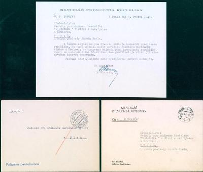 11B337 Kancelář prezidenta republiky - Mariánská Týnice, Kralovice RR!
