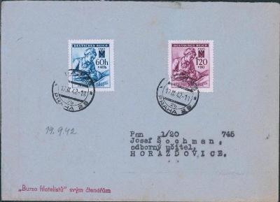 12B586 Dopis Malý oznamovatel českého slova Praha - Horažďovice