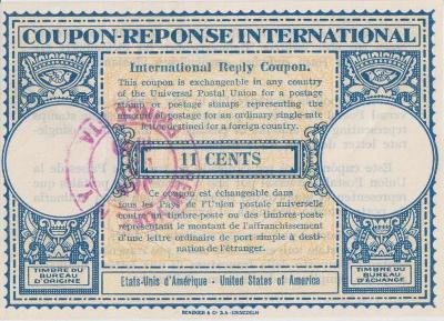 10B1805 ODPOVĚDNÍ KUPON COUPON-REPONSE INTERNATIONAL USA 1949 !