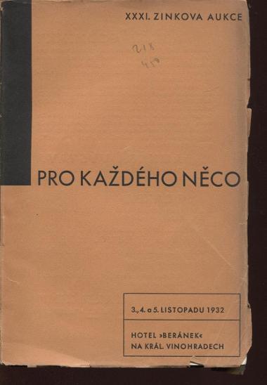 Pro každého něco (XXXI. Zinkova knižní aukce) - Knihy