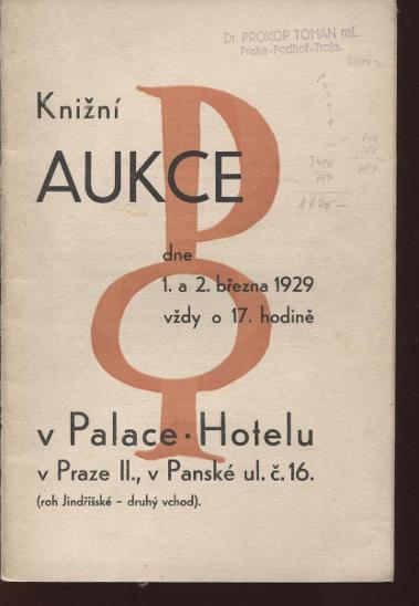 Knižní aukce Oldřich Pyšvejc - Knihy